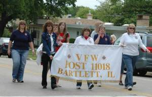 Bartlett VFW walks proudly to Cemetery