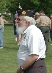 Veteran readies for the flag retiring