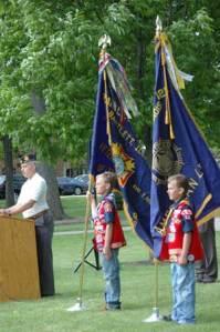 Cub Scouts Stand guard